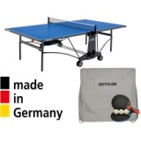 Kettler Cabo Outdoor Table Tennis Table with Accessory Bundle