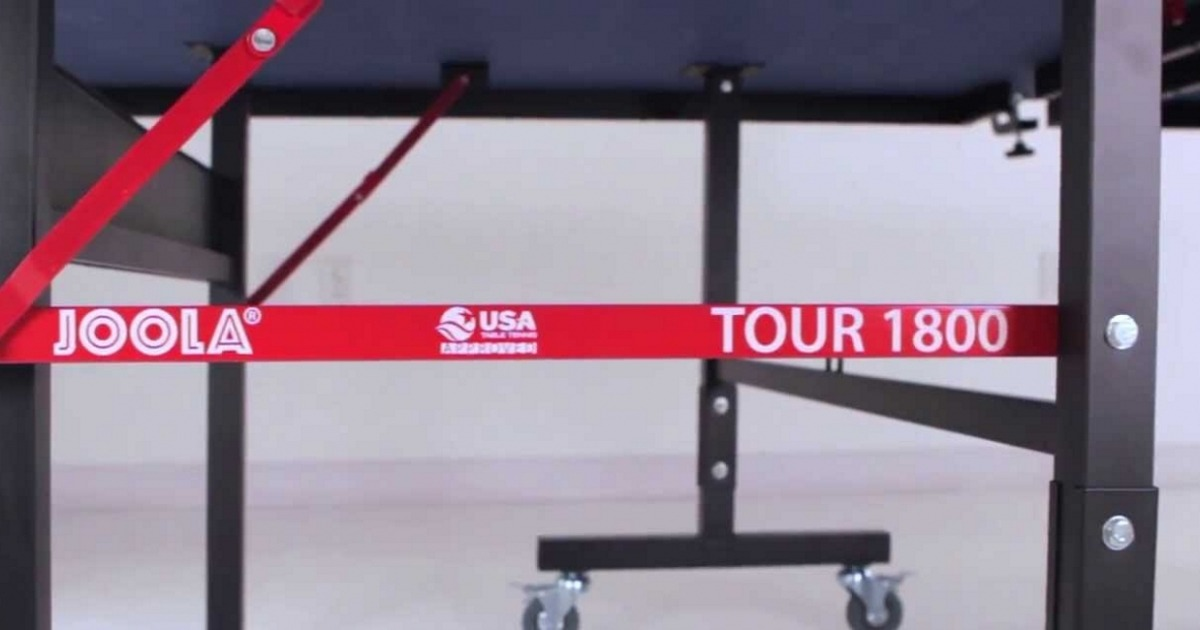best indoor table tennis table joola tour 1800 undercarriage review