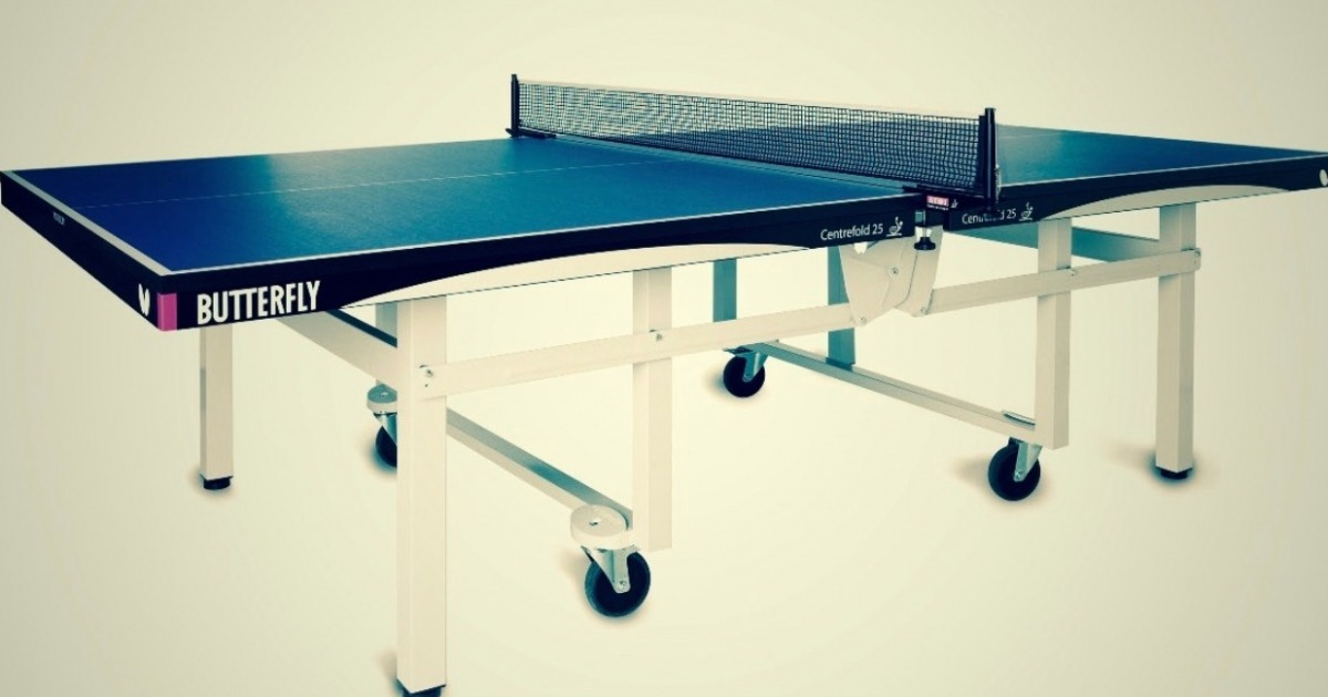 Butterfly Centrefold Rollaway 25 Best Indoor Table Tennis Table Review