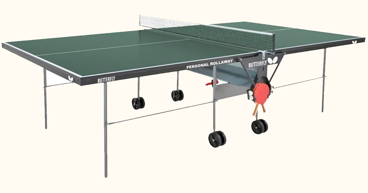 Buy the Butterfly Personal Rollaway Indoor Table Tennis Table with Net Set