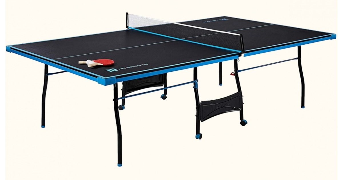 MD Sports Indoor Ping Pong Table Bundle with Bats, Balls and Net Set
