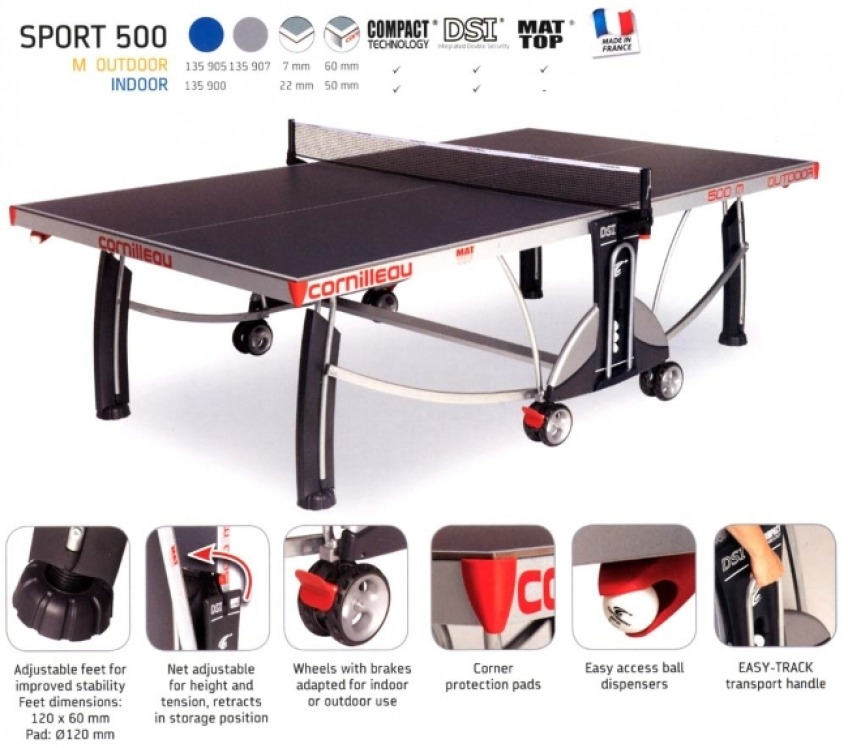 Cornilleau Sport 500m Best Outdoor Tennis Table For Kids Review