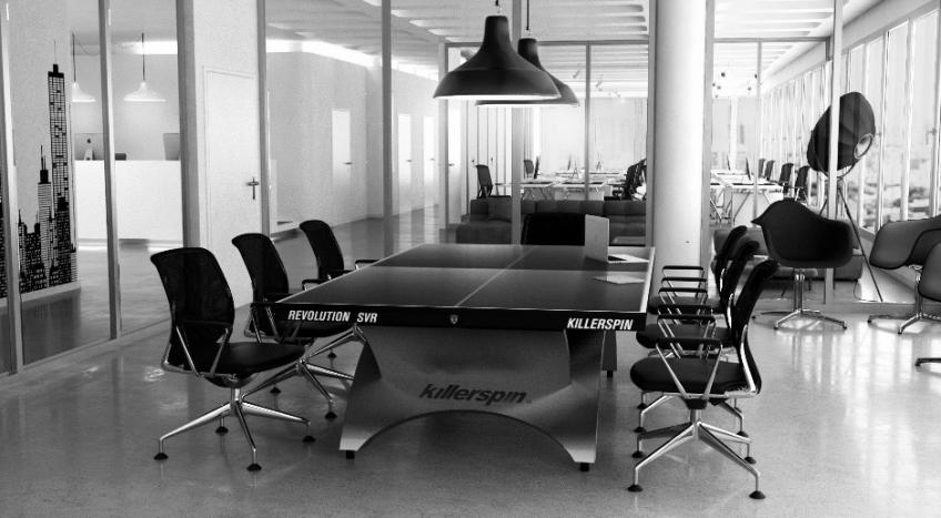 Killerspin Revolution SVR Table Tennis Table in an office