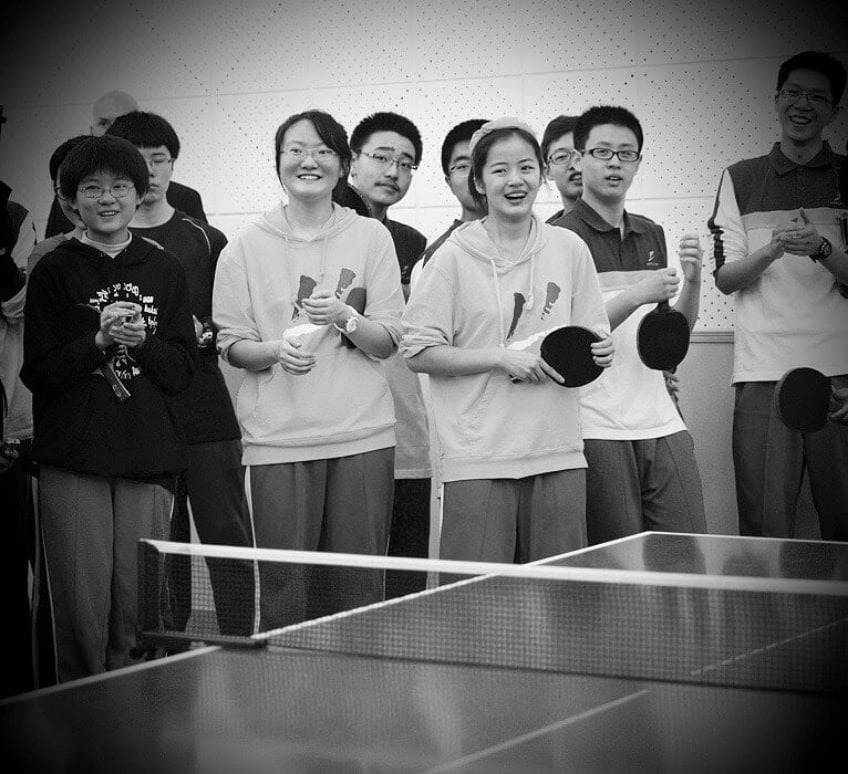Chinese Kids Enjoy Playing Table Tennis From A Young Age