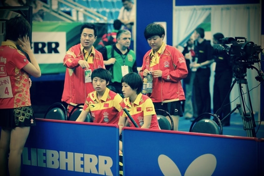 The Chinese Womens National Table Tennis Team