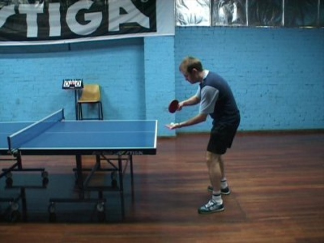 table tennis - backhand - topspin serve