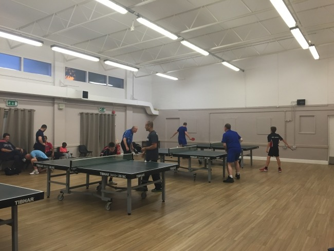 table tennis club side view