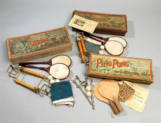 Early ping pong and table tennis sets for the dining table