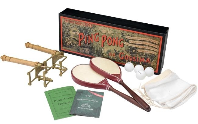 An early ping pong set from London the city that invented table tennis