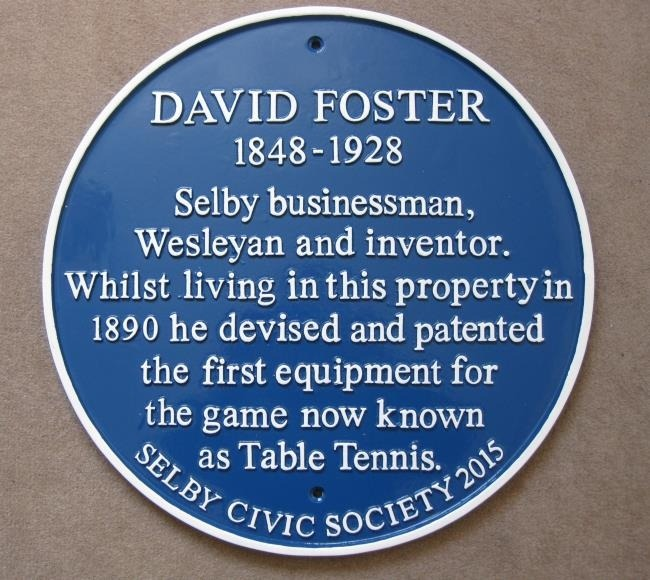 Davi Foster has an inportant part in the early development of table tennis