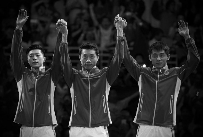 Olympic Rio 2016 Chinese Table Tennis Winning Team