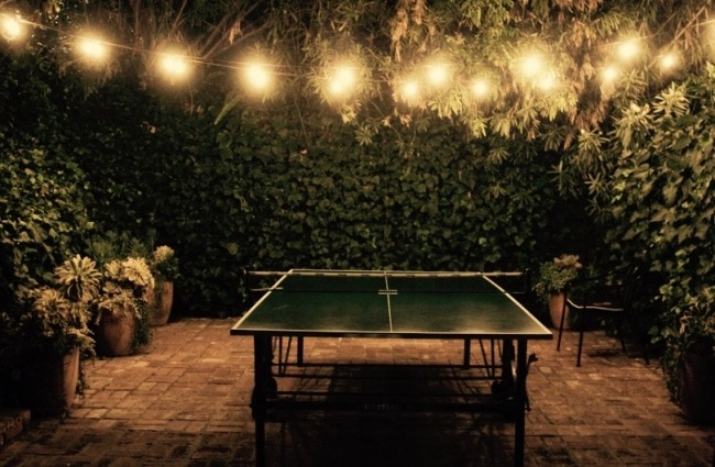 Chateau Marmont Restaurant Table Tennis Table