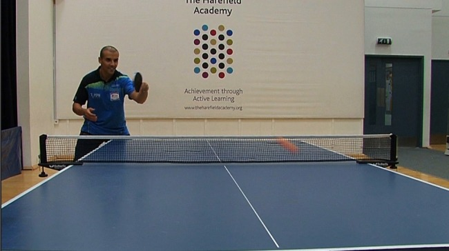 Ping Pong Video tips video Tutorial With Eli Baraty - Backhand Stroke