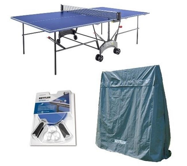The Outdoor Accessory Bundle With The Kettler Axos 1 Outdoor Ping Pong Table Reviewed