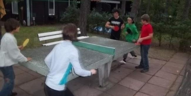 Kids love playing ping pong